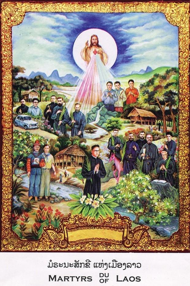 Béatification de 17 martyrs du Laos, 11 décembre 2016, tableau de Do Manh Binh
