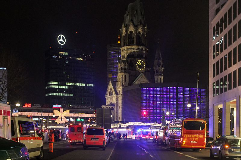 Berlin, Breitscheidplatz, lieu de l'attentat du 19 déc. 2016, Wikimedia Commons, CC BY 2.0