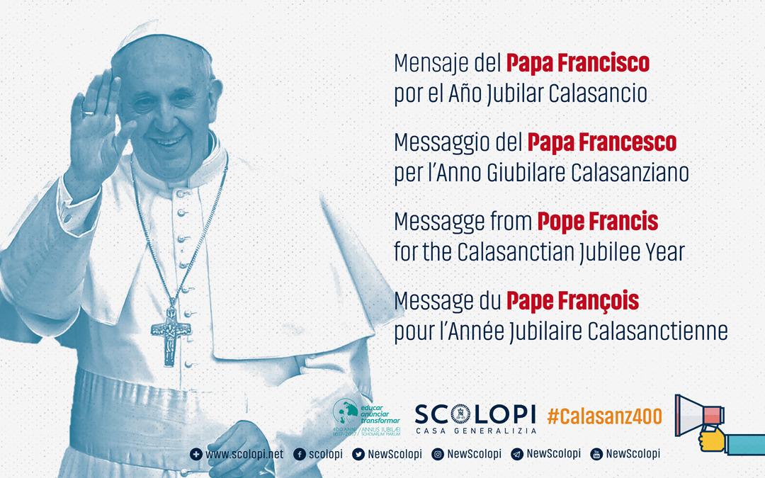 Message du pape François aux religieux piaristes, scolopi.org/fr/