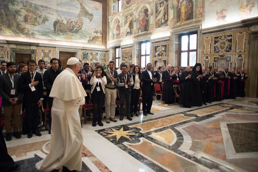 Le pape reçoit les étudiants internationaux, 1er déc. 2016 © L'Osservatore Romano