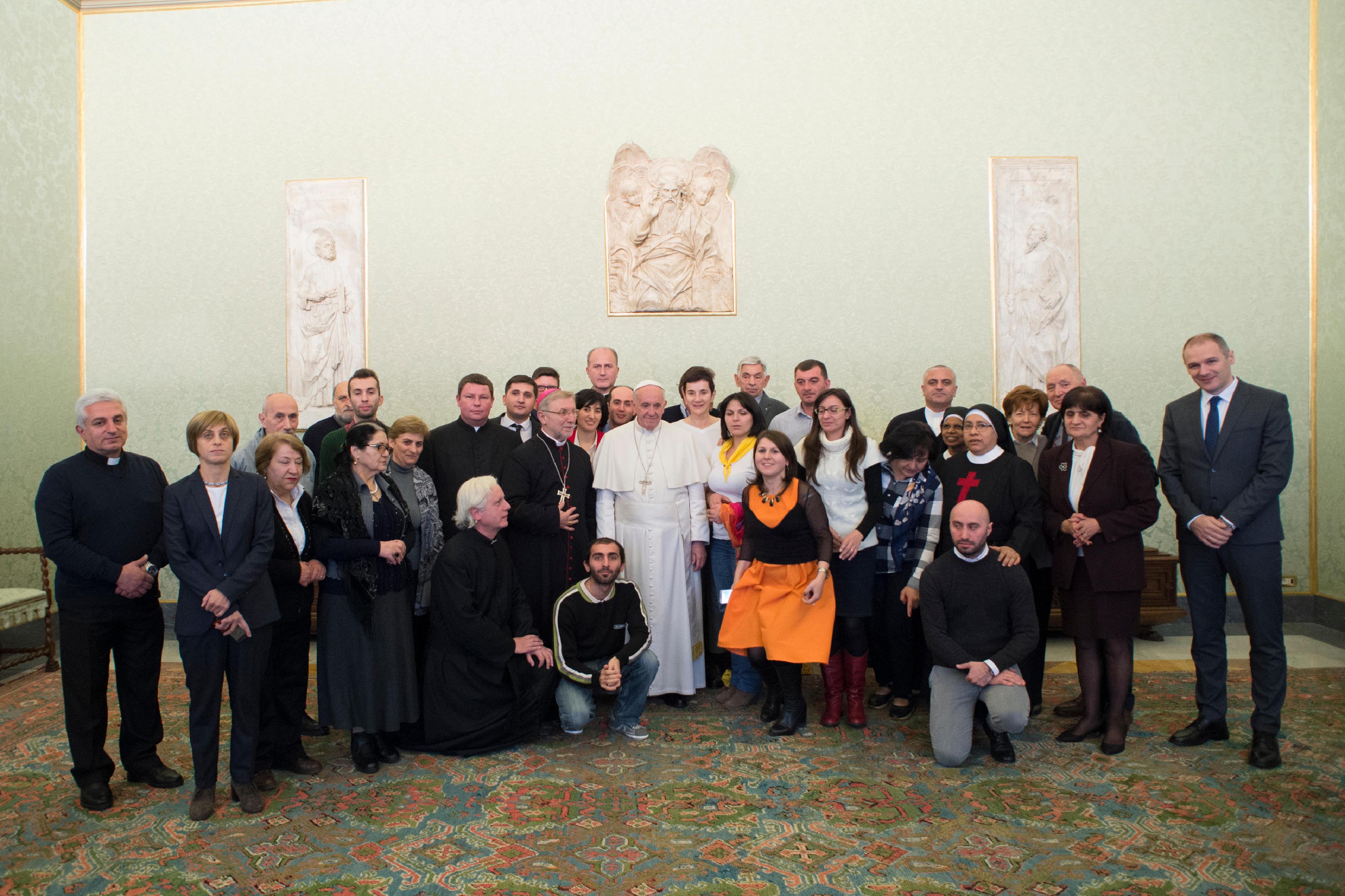 Délégation de fidèles du Caucase © L'Osservatore Romano