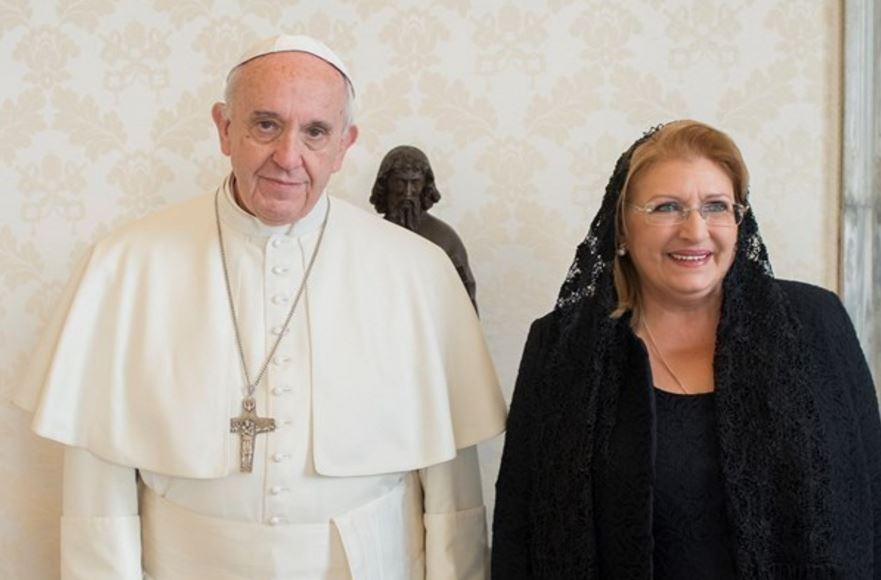 Marie-Louise Coleiro Preca, présidente de Malte © L'Osservatore Romano