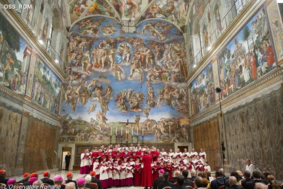 Concert du Choeur de la chapelle Sixtine © L'Osservatore Romano