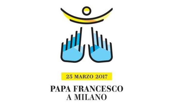 Logo de la visite du pape François à Milan
