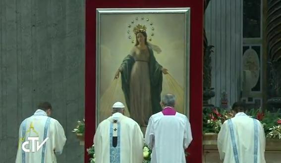 1er janvier 2017, Marie Mère de Dieu, capture CTV