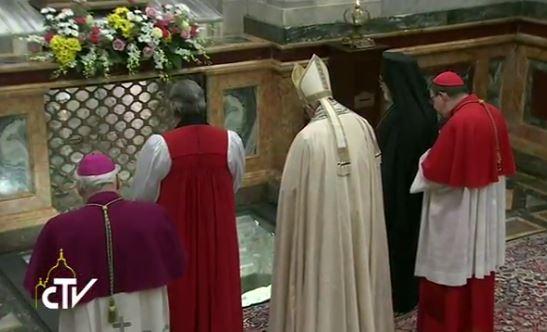 Vêpres à St-Paul-hors-les-murs pour l'unité des chrétiens, capture CTV