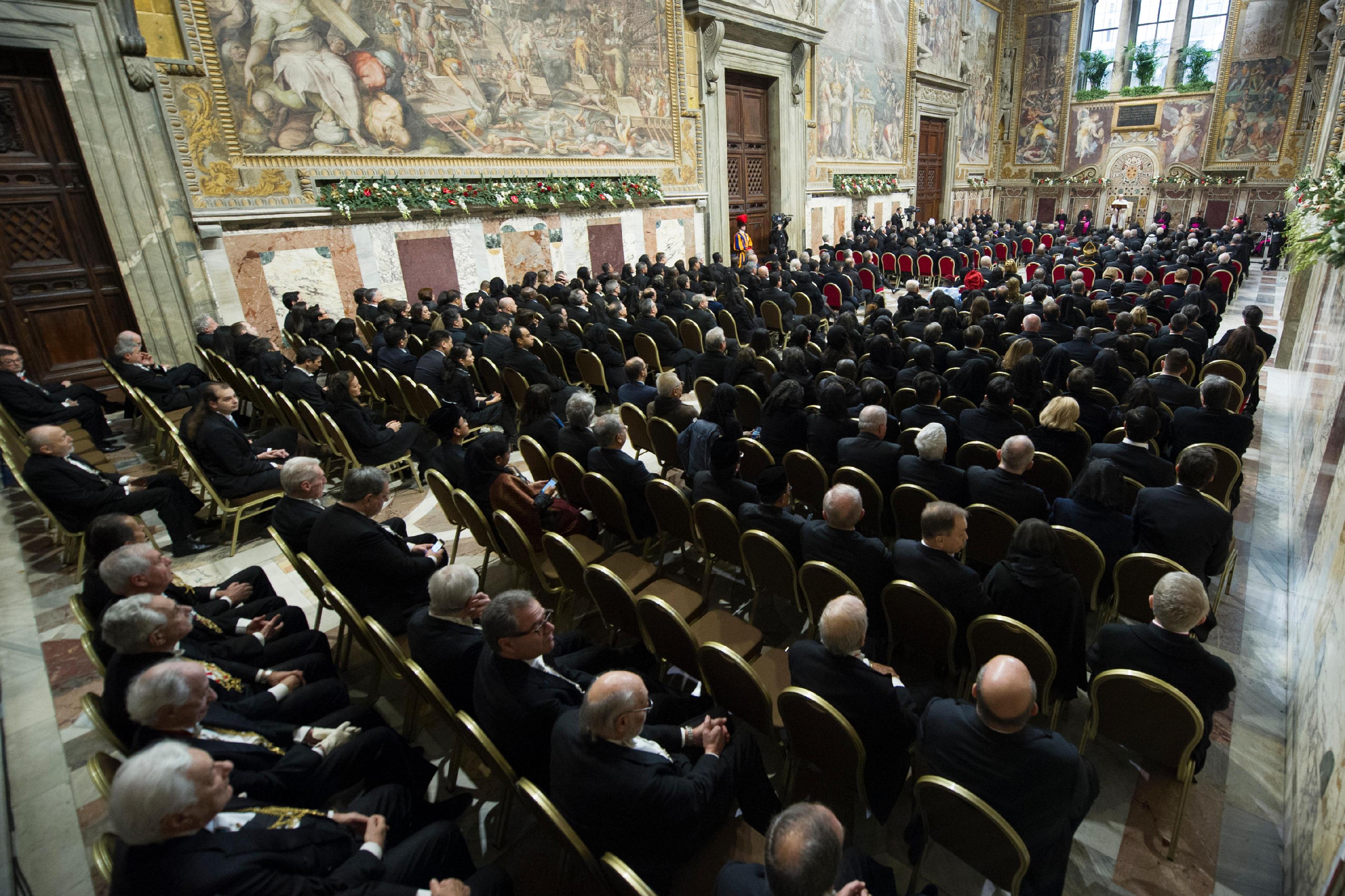 Voeux au Corps diplomatique, 9 janv. 2017 © L'Osservatore Romano