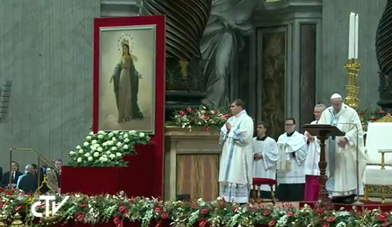 Messe du 1er janvier 2017, Ste Marie Mère de Dieu, capture CTV