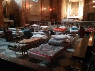 Dortoir pour sans-abri à Saint-Calixte © Bureau de presse du Saint-Siège