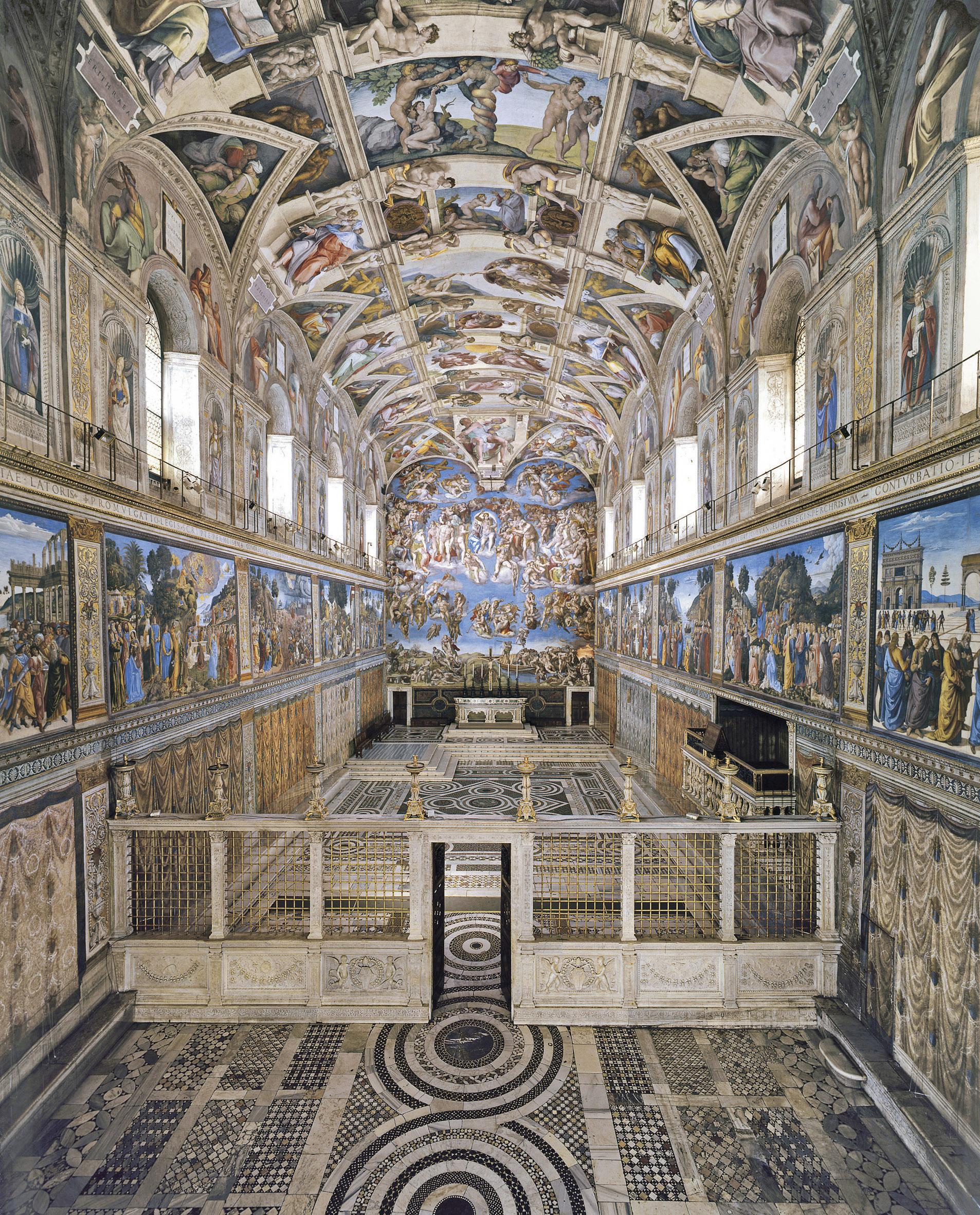 La chapelle Sixtine, courtoisie des Musées du Vatican