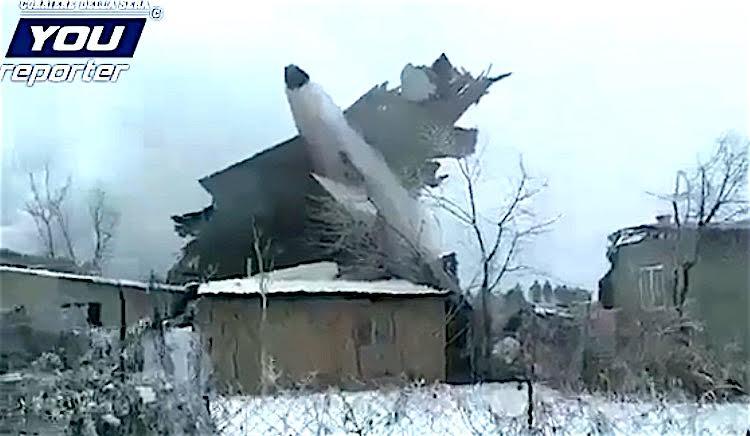 Crash sur un village du Kirghizistan, YouReporter
