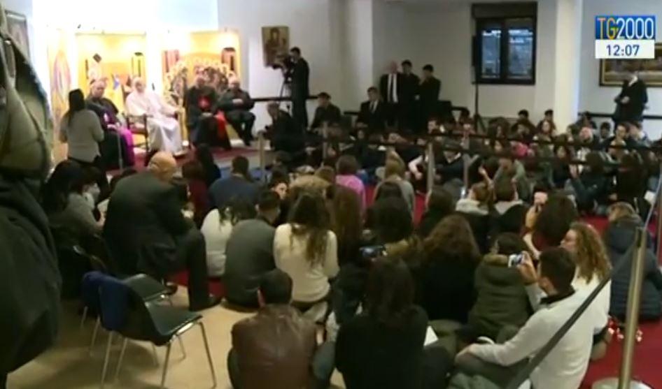 Enfants de la catéchèse, paroisse Ste Marie de Setteville, capture TV2000