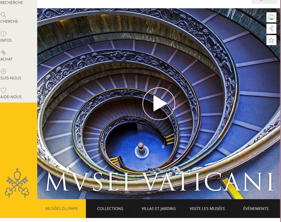 Site des musées du Vatican © museivaticani.va
