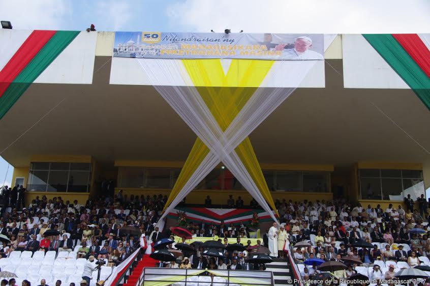Stade Mahamasina, Madagascar, 29.01.2017, courtoisie de la présidence malgache