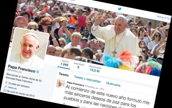 Compte twitter du pape François en espagnol