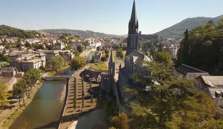 Lourdes, capture vidéo fr.lourdes-france.org