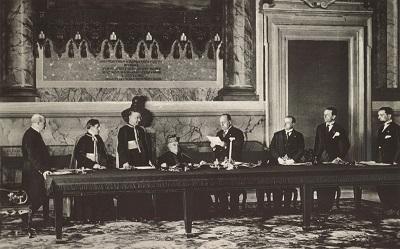 Signature des Accords du Latran
