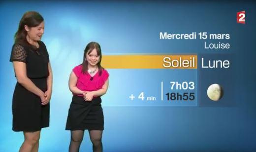 Mélanie Ségard présente la météo, capture France 2