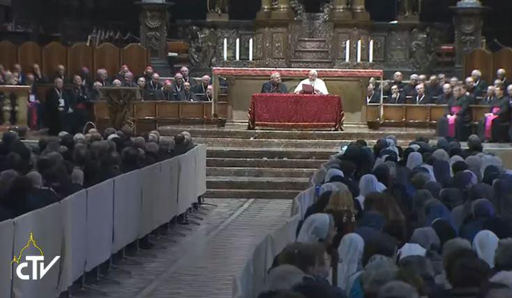 Rencontre dans la cathédrale de Milan, 25 mars 2017, capture CTV