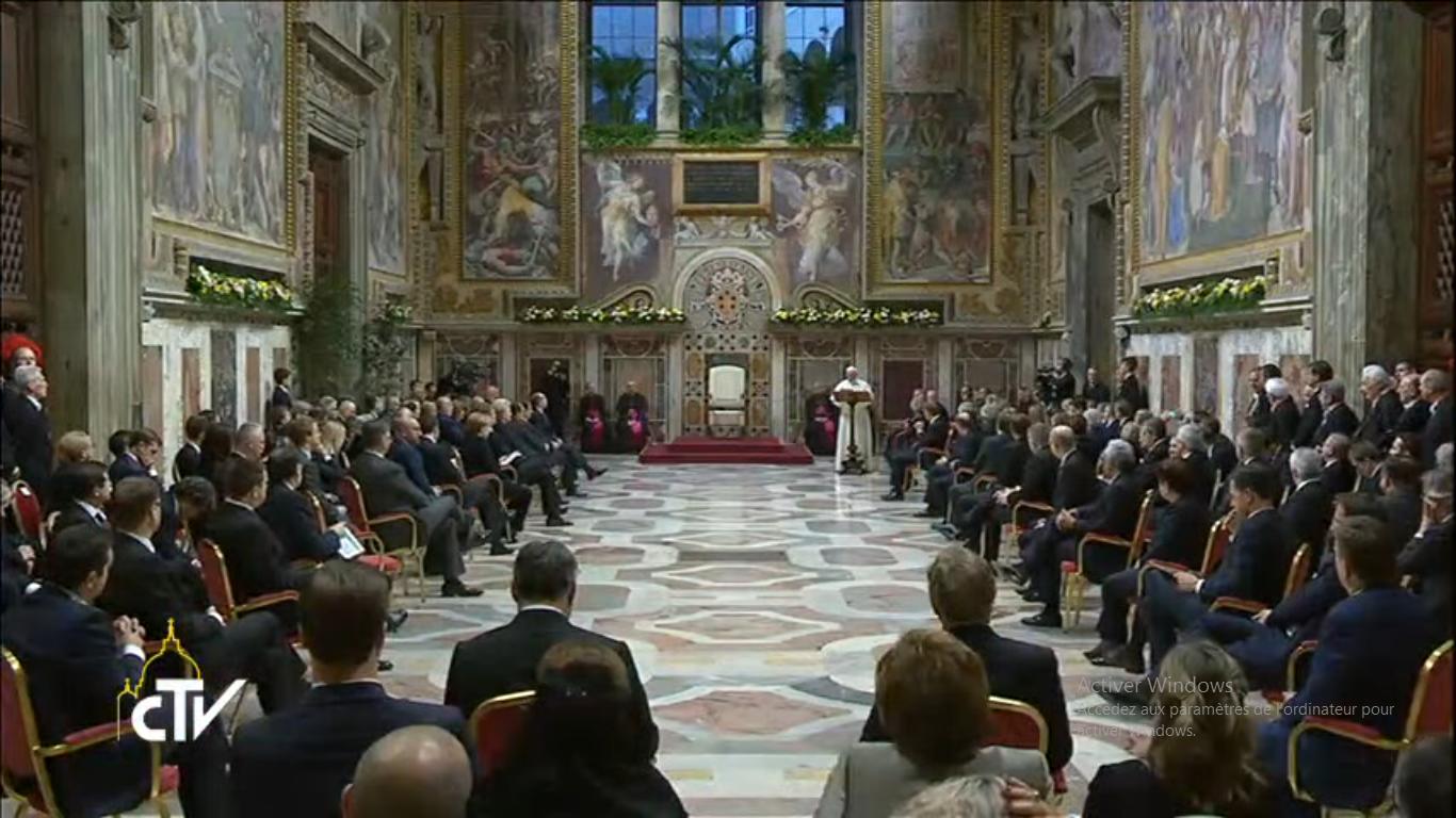 Les 60 ans des Traités de Rome, 24 mars 2017, capture CTV