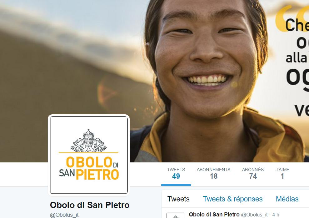 Twitter du Denier de Saint Pierre