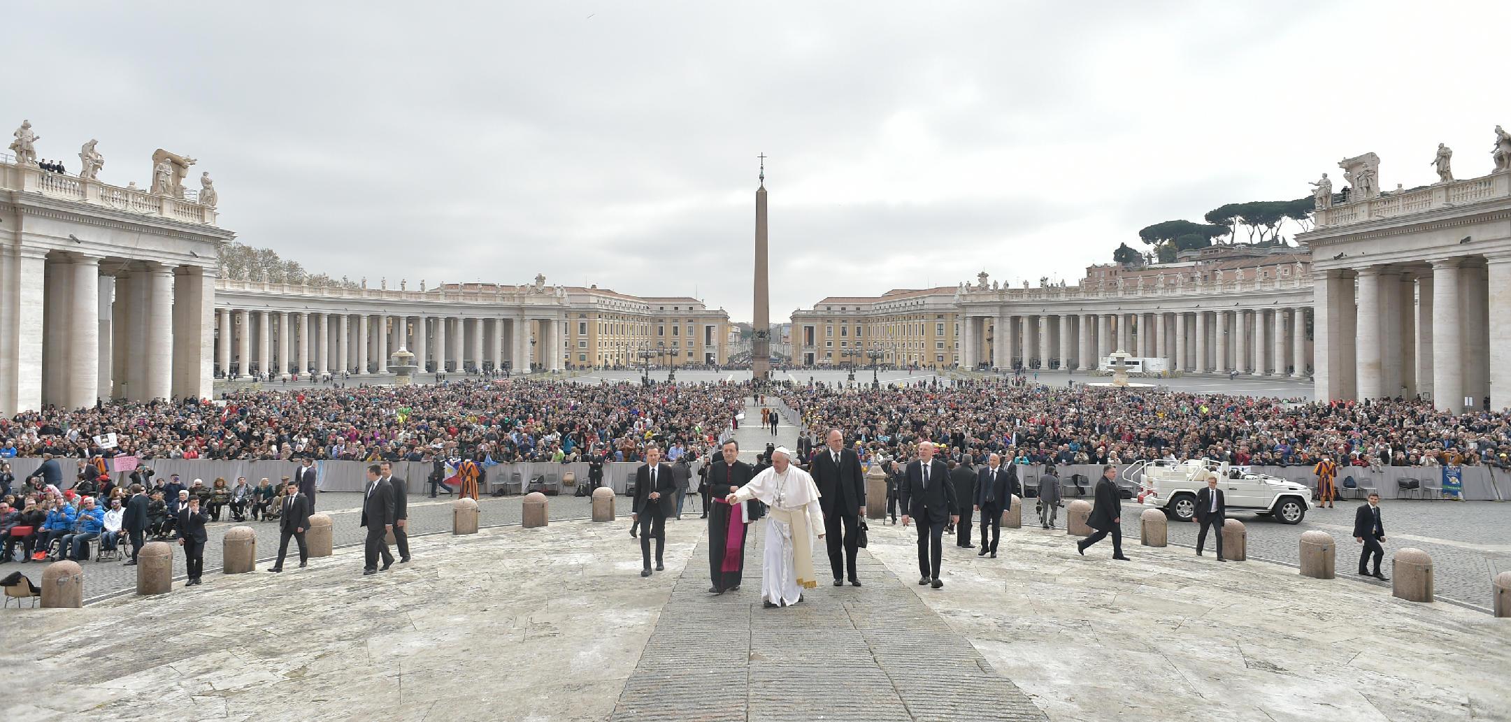 Audience générale du 22 mars 2017 © L'Osservatore Romano
