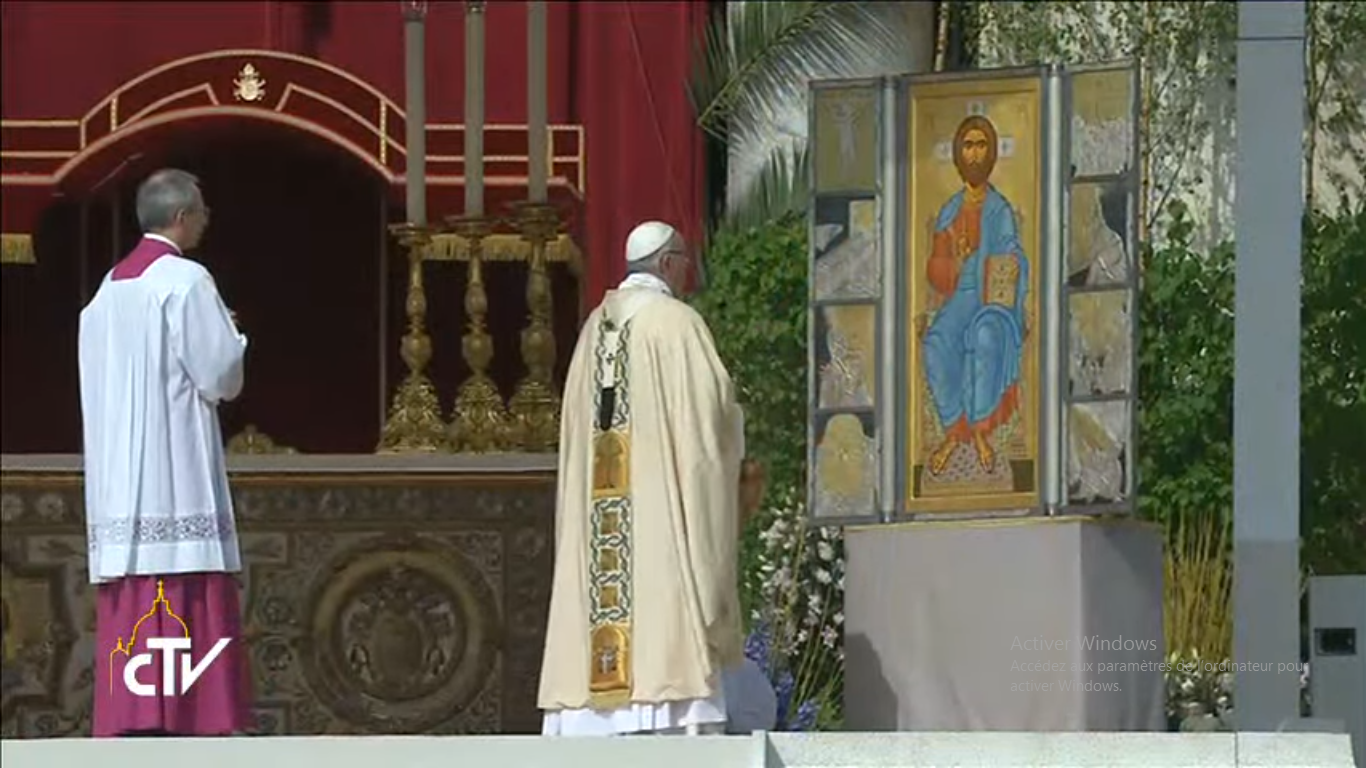 Messe de Pâques 2017, capture CTV