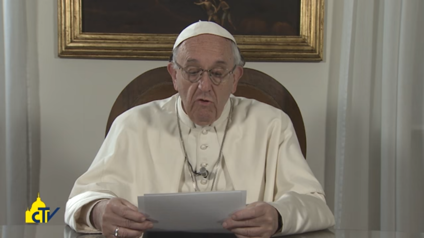Message vidéo du pape François à l'Egypte, capture CTV
