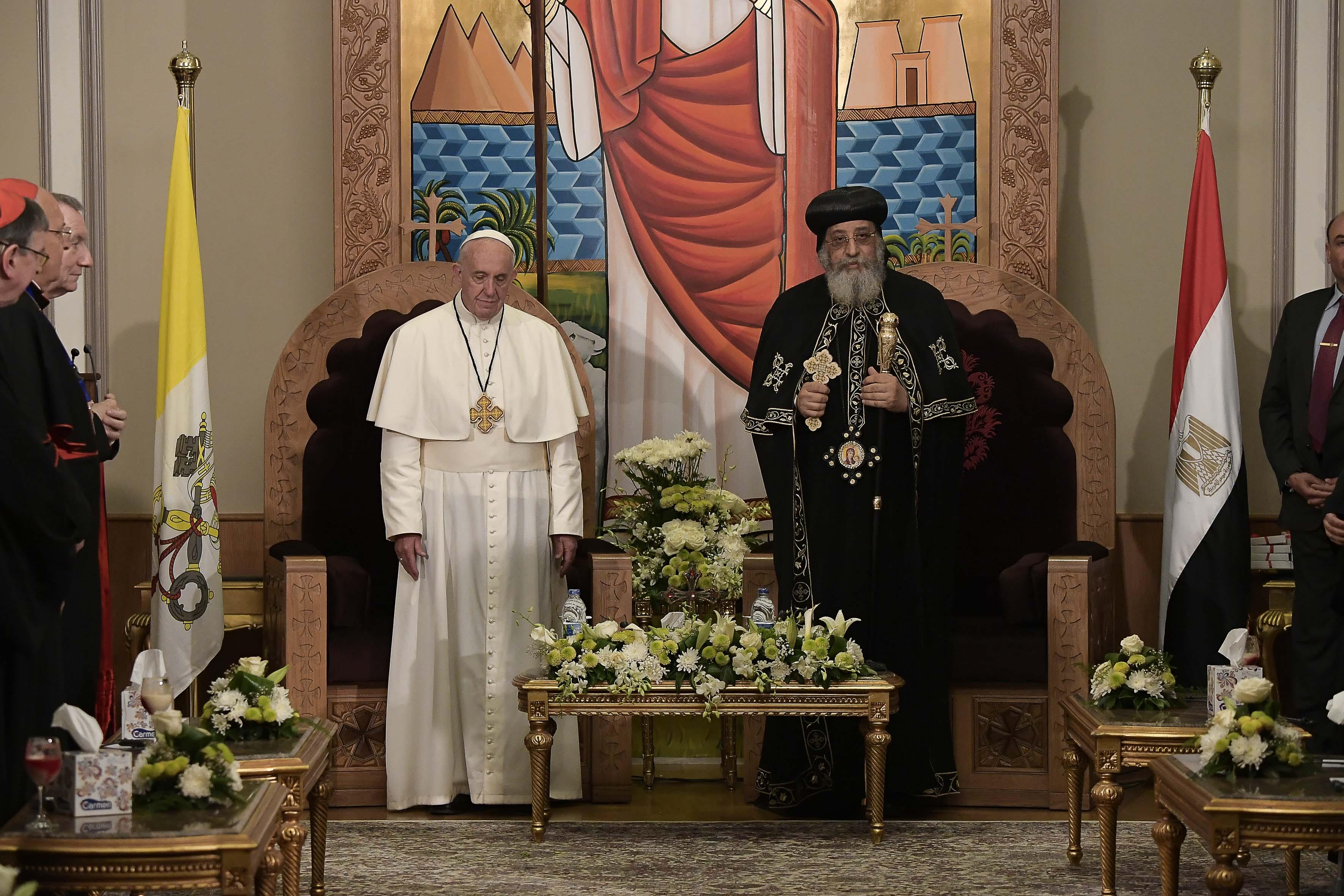 Le pape et le patriarche Tawadros © L'Osservatore Romano