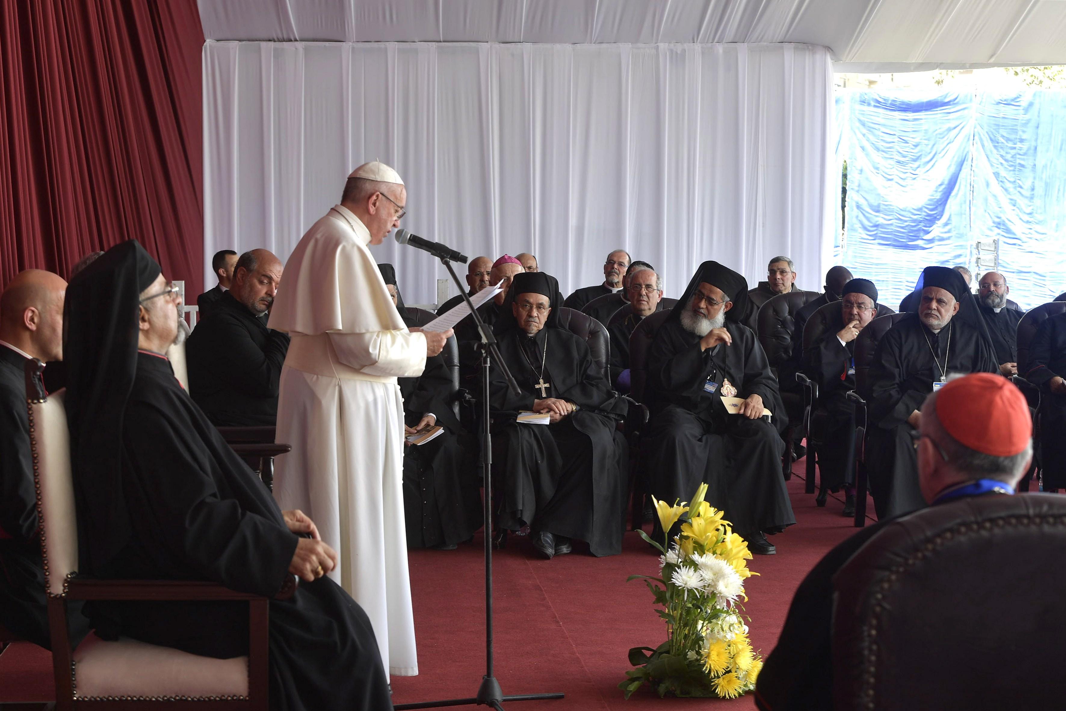 Rencontre avec le clergé et les consacrés d'Egypte © L'Osservatore Romano