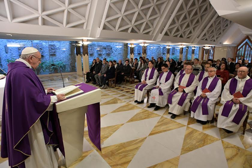 Messe à Sainte-Marthe, 3 avril 2017 © L'Osservatore Romano
