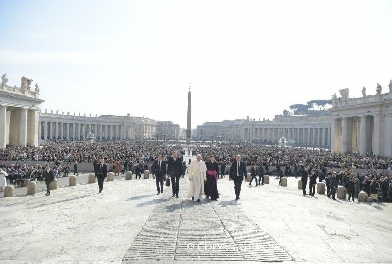 Audience générale du 5 avril 2017 © L'Osservatore Romano