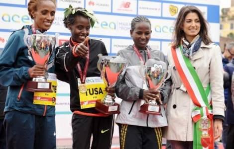 Rahim Tusa, Ethiopie, vainqueur du marathon de Rome © Fides