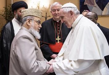 Responsables musulmans britanniques au Vatican © L'Osservatore Romano
