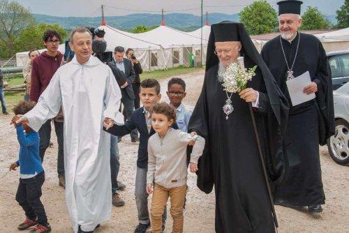 Le patriarche Bartholomée à Taizé © taize.fr