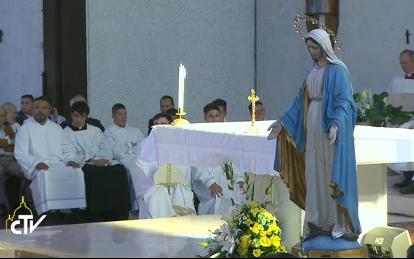 Messe à San Pier Damiani, capture CTV