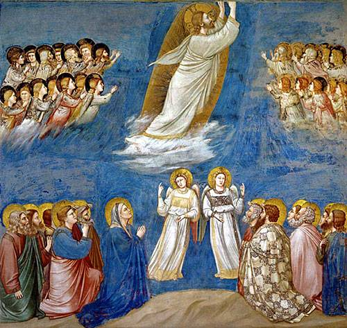 L'Ascension du Christ, Giotto, Chapelle des Scrovegni, Padoue (Italie) © DR