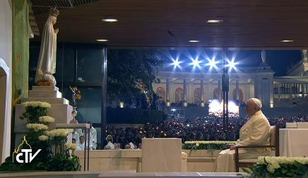 Veillée à la chapelle des apparitions de Fatima, capture CTV