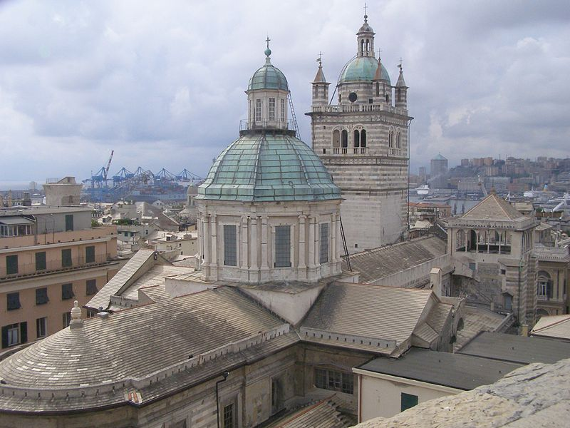 Cathédrale San Lorenzo de Gênes © Wikimedia commons / Andrzej Otrębski