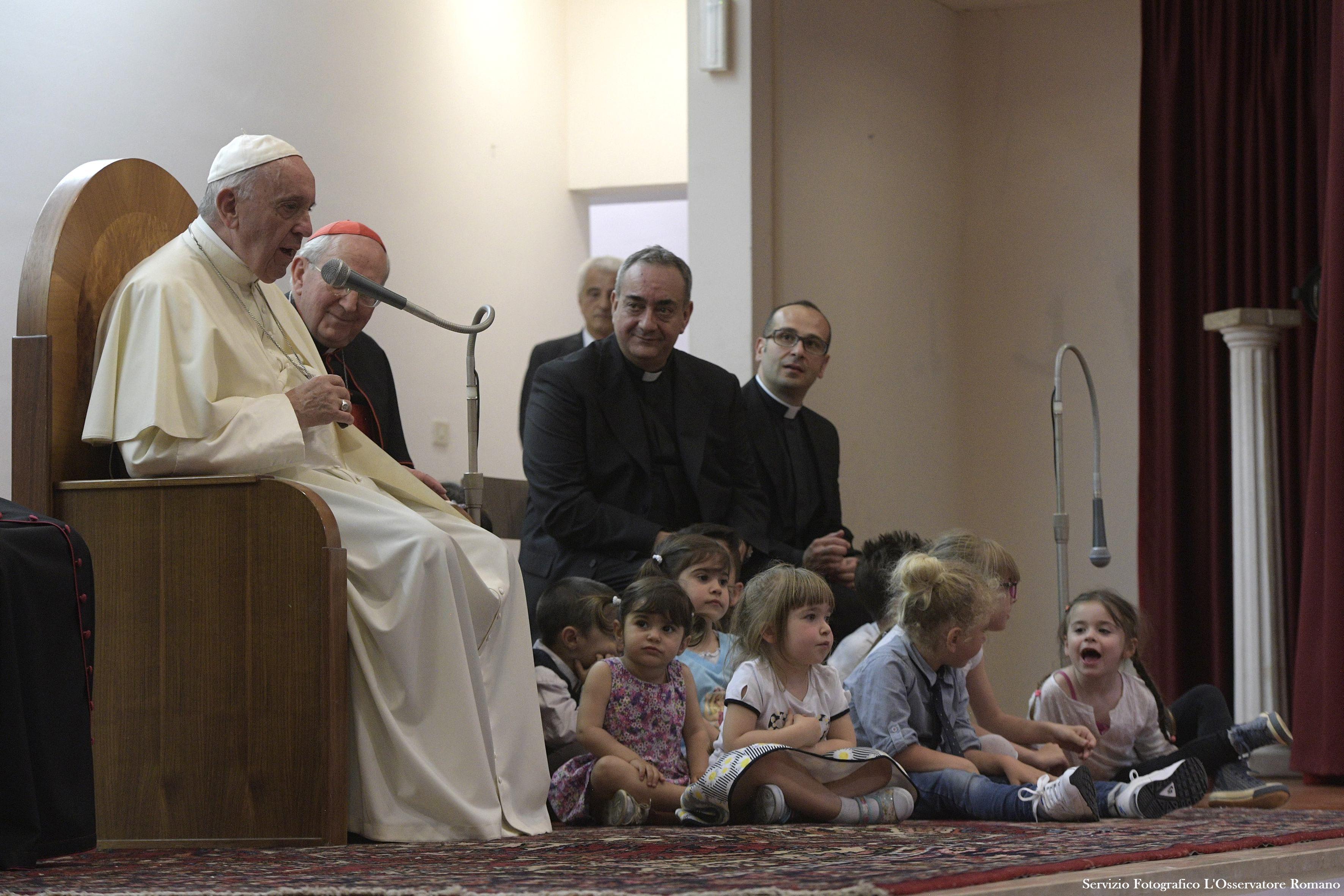 Visite à la paroisse San Pier Damiani © L'Osservatore Romano