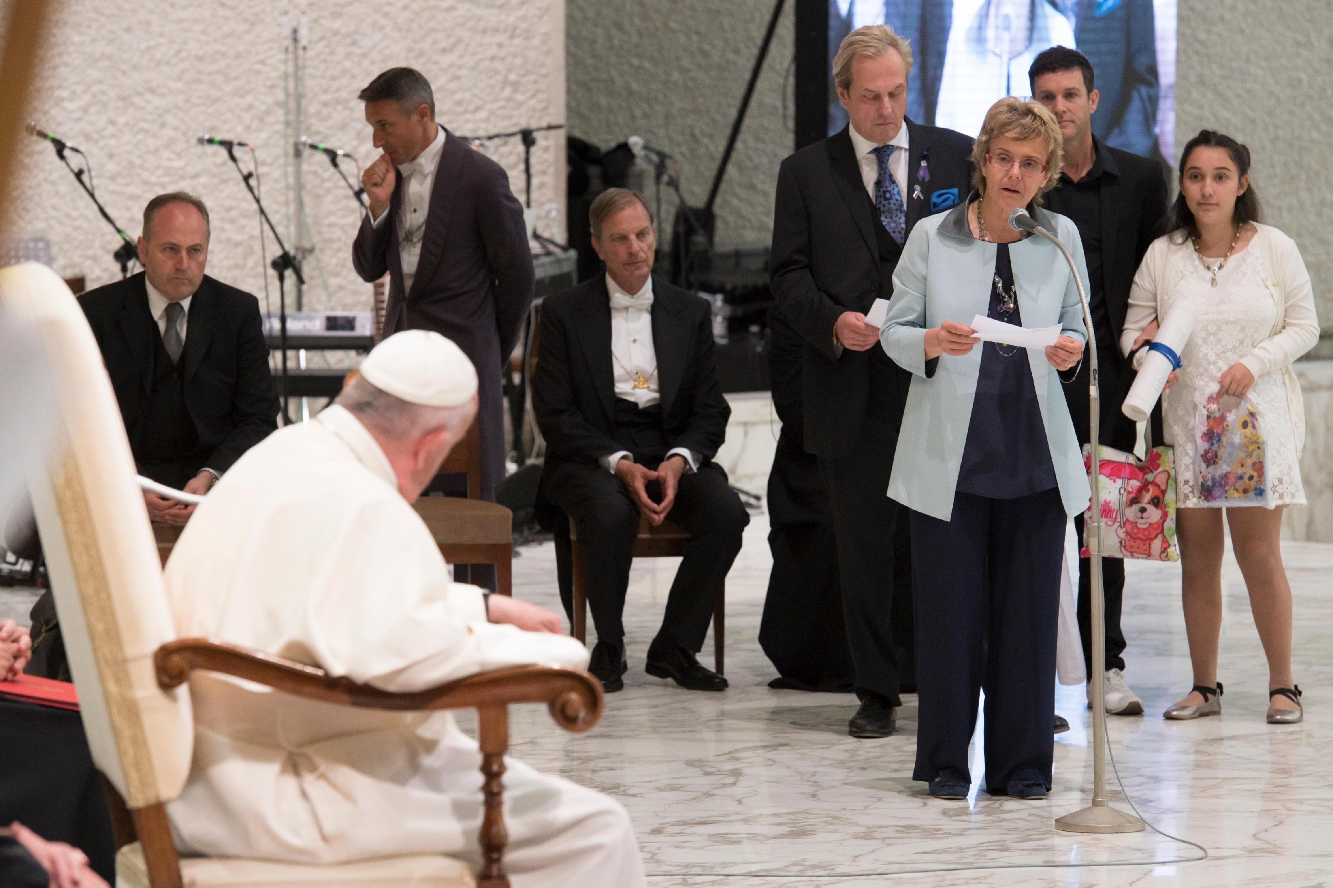 Audience aux malades de Huntington © L'Osservatore Romano