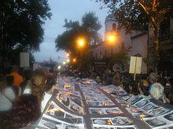 Marche du 24 mars 2006 avec les noms des disparus, Pepe Robles, Domaine public