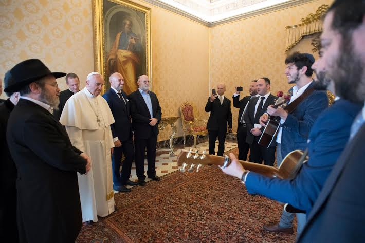 Visite du rabbin Gluck © L'Osservatore Romano