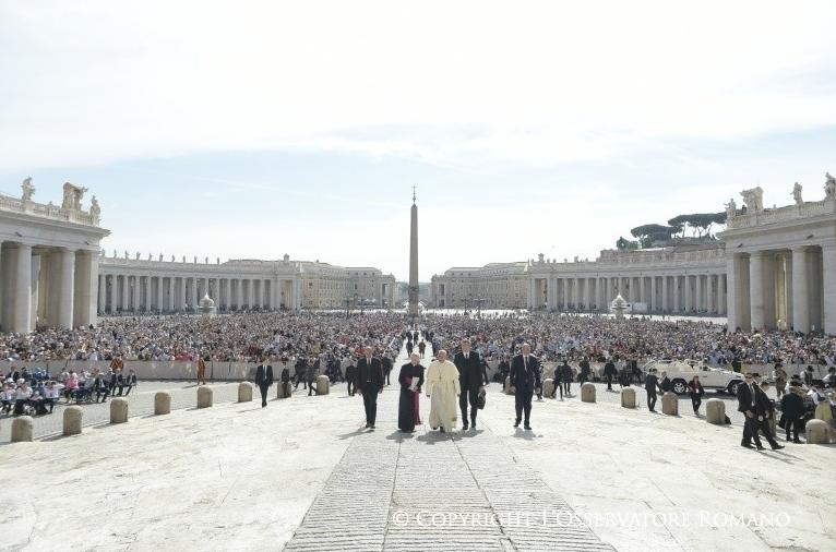 Audience générale du 24 mai 2017 © L'Osservatore Romano