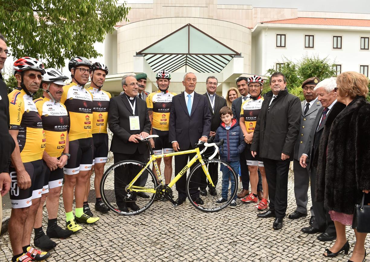 Pèlerinage cycliste Vatican-Fatima, courtoisie de Agência Ecclesia, photo de João Fernandes