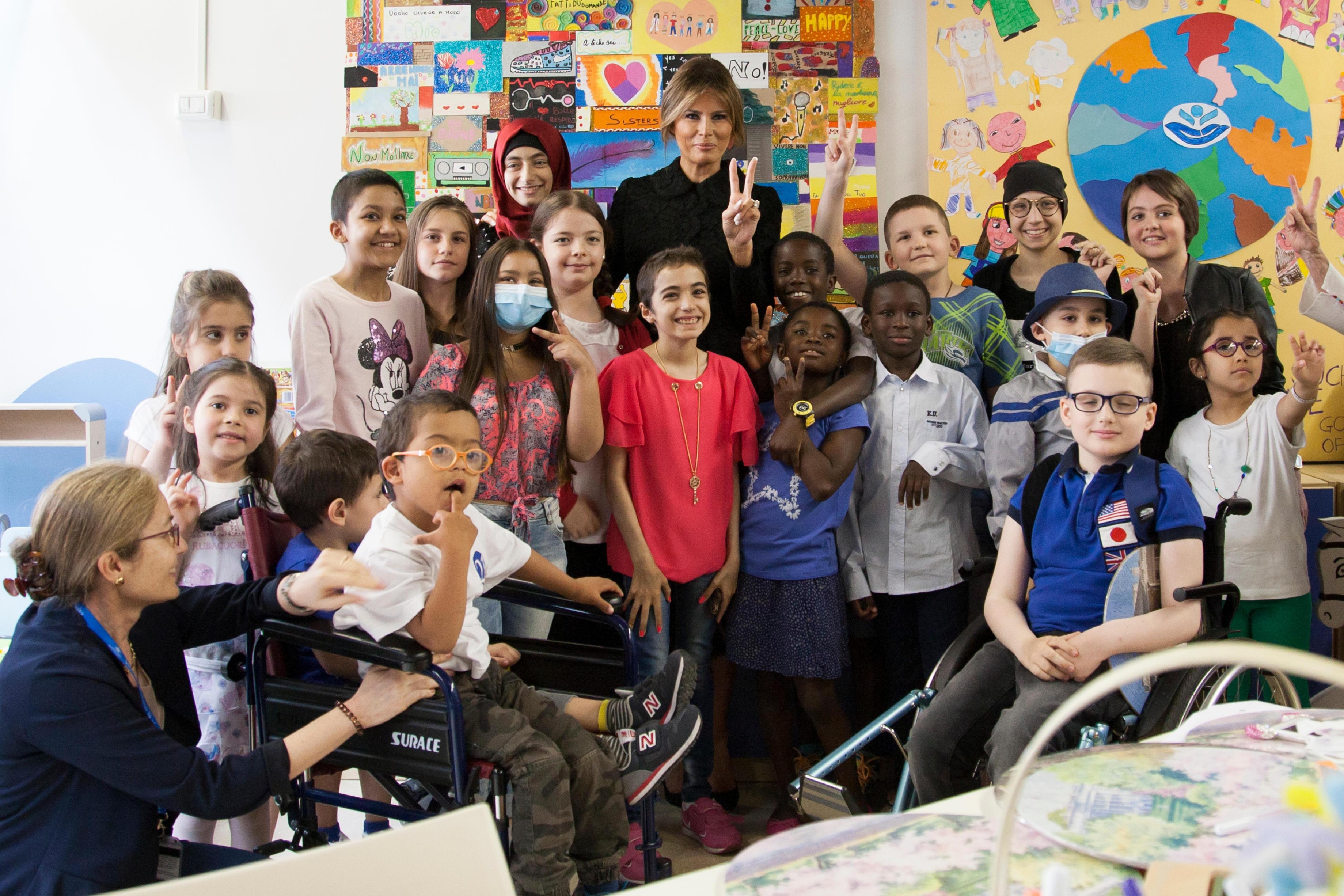 Visite de la First Lady Melania Trump à l'hôpital pédiatrique Bambino Gesù du Vatican © L'Osservatore Romano