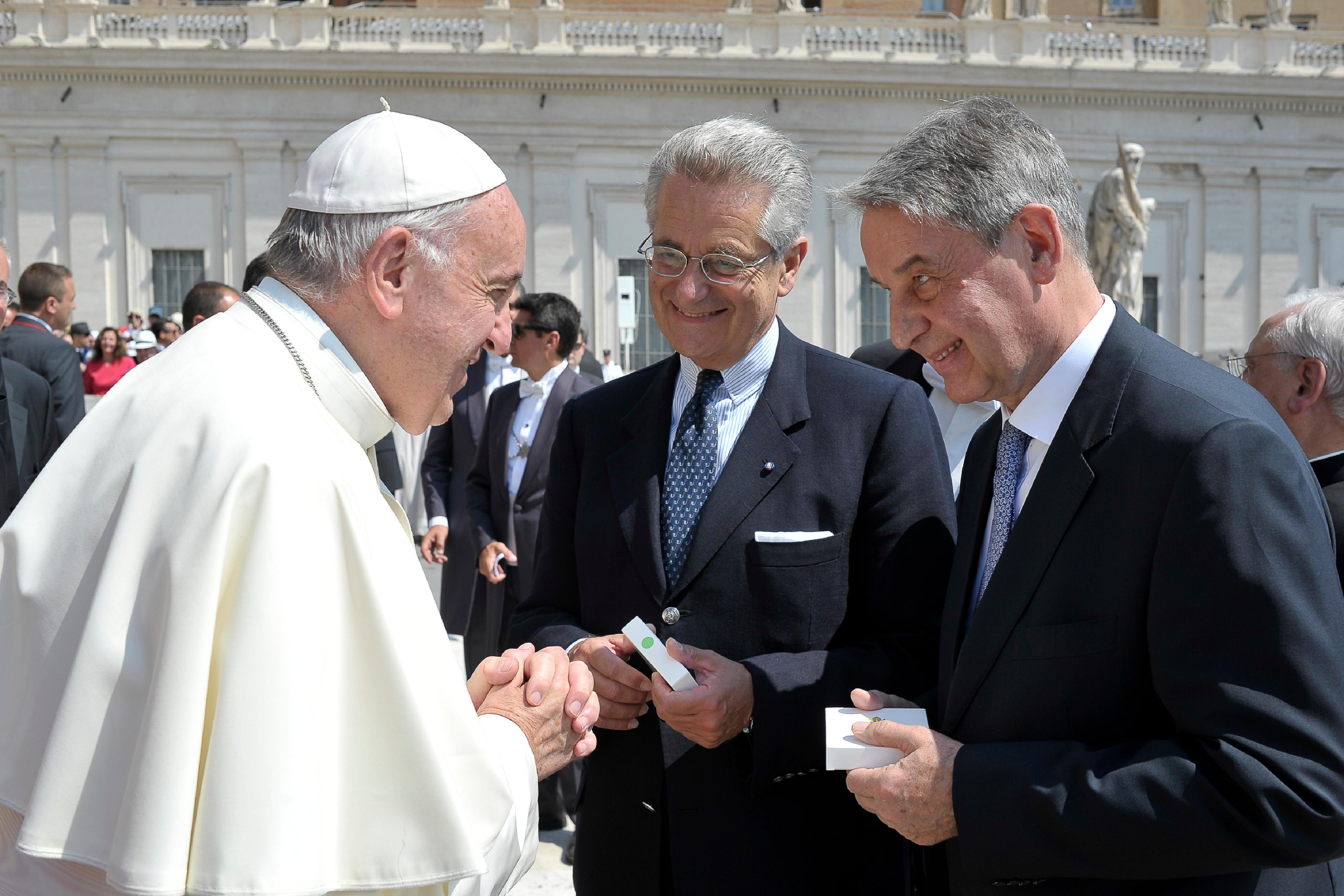 MM. Antonio Zanardi Landi et Alexander Avdeev © L'Osservatore Romano