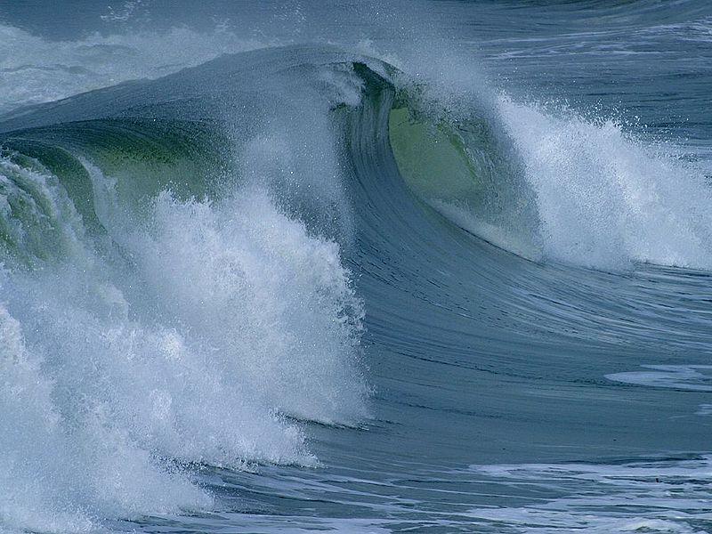 Vague sur l'océan, Wikimedia commons, Jon Sullivan, domaine public
