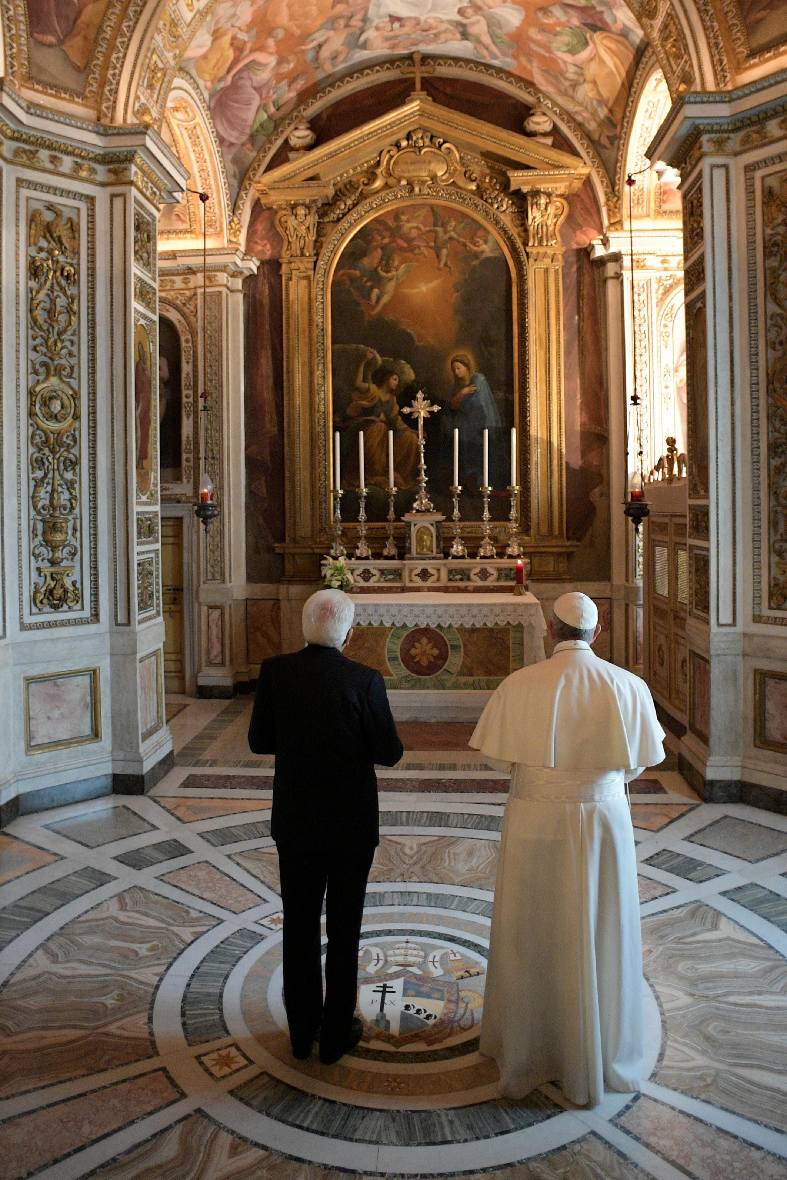 Visite au prés. Italien Mattarella 10/06/2017 © L'Osservatore Romano