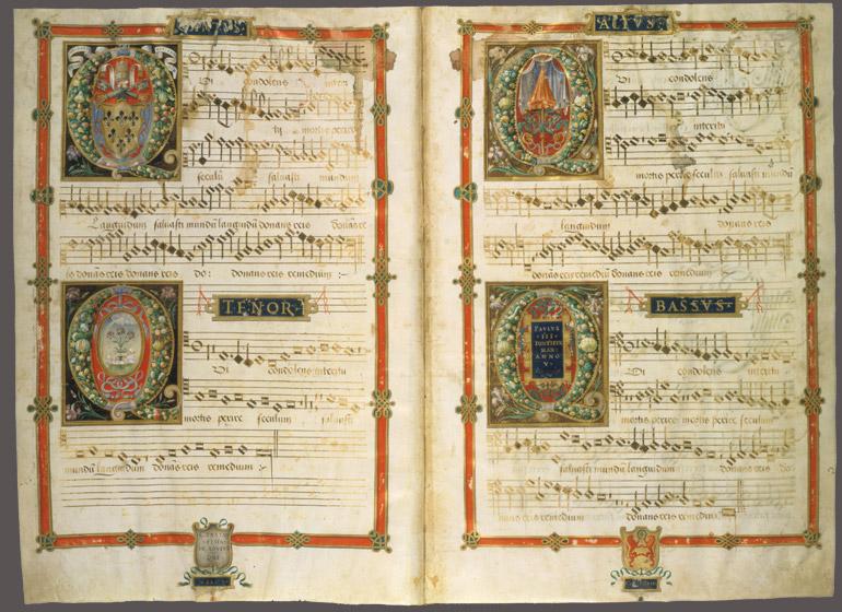 Hymnes polyphonique du XVIe s., digitavaticana.org